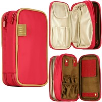 Cosmetic Makeup Jewelry and Toiletry Organizer Travel Bag Case Double-sided