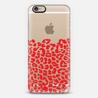 Wild Red Leopard Transparent iPhone 6s case by Organic Saturation | Casetify