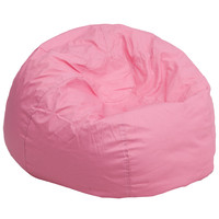 Flash Furniture Oversized Solid Light Pink Bean Bag Chair [DG-BEAN-LARGE-SOLID-PK-GG]