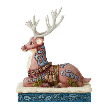 Jim Shore HWC Victorian Reindeer Laying Down – 6004180