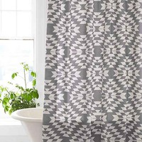 Magical Thinking Costa Geo Shower Curtain- Grey One