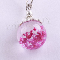 Pink Rose Petal Necklace - Real Rose Petals in Resin - Pressed Flower Jewelry, Resin Necklace,