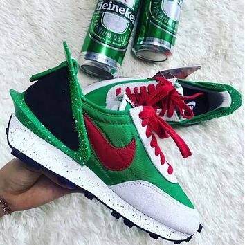 Undercover X Nike Dbreak New Fashion Hook Running Sports Leisure Women Men Shoes Green