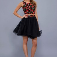 Sexy Two Piece Homecoming Dress Prom Cocktail
