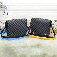 Bunchsun LV Crossbody Bag Louis Vuitton Shoulder bag Blue Yellow Strap Bag