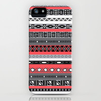 Infrared Aztec iPhone Case iPhone & iPod Case by RexLambo