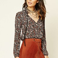 Contemporary Ornate Floral Top