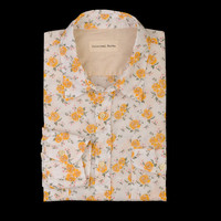 UNIONMADE - Universal Works - Rose Print Button Down in Shirt in Orange