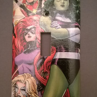 Comic Book A Force light switch cover