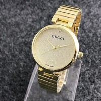 GUCCI Ladies Trending Casual Quartz Watches Wrist Watch Golden G