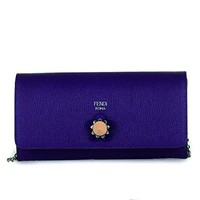 Fendi Crayons Long Leather Chain Wallet 8M0365 - Purple