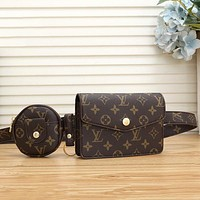 Louis Vuitton LV fashion men and women leisure sports belt bag coin purse