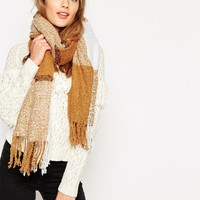 Pieces Oversized Check Scarf