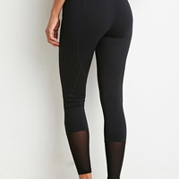 Mesh-Ankle Athletic Leggings