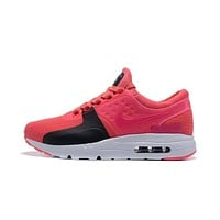 Nike Air Max 87 Zero QS ESSENTIAL White Black Pink Women Sport Running Shoes