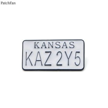 Patchfan Supernatural License plate Zinc pins para backpack clothes metal medal for bag shirt badge brooches for men women A0906