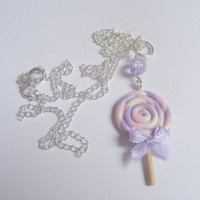 Lollipop Miniature Food Necklace Pendant - Miniature Food Jewelry