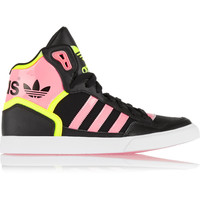 adidas Originals - Extaball neon faux leather sneakers
