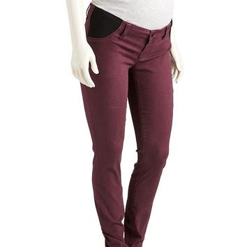 Old Navy Maternity The Rockstar Side Panel Sateen Jeans