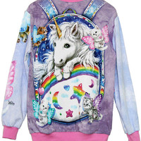 Kitten Fairies Unicorn All Over Print Jumper