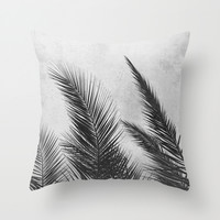 Palm Leaves 2 Throw Pillow by Mareike Böhmer Photography