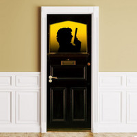 STICKER for Door / Wall / Fridge - Sherlock Holmes. Peel & Stick Removable Decole, Mural, Skin, Cover, Wrap, Decal Poster