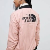 The North Face 2019 new outdoor sports women's windproof jacket Pink