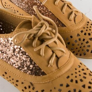 Cut Out and Glitter Oxford - Camel from Casual & Day at Lucky 21 Lucky 21