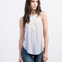 Crochet Front Strappy Top