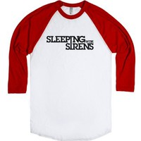 Sleeping With Sirens-Unisex White/Red T-Shirt