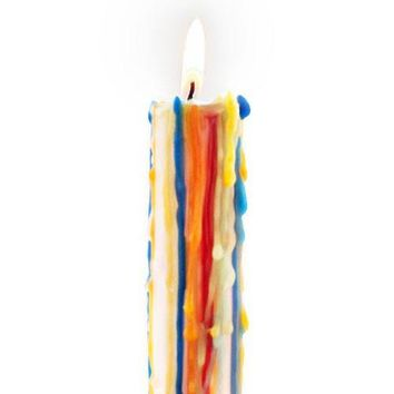 Rainbow Multi-Color Drip Candles (Pair of 2)