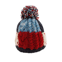 Infant Baby Winter Warm Knitting Baby Beanie Hat Red
