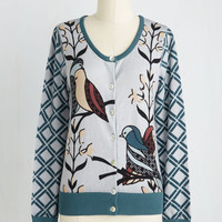 Critters Mid-length Long Sleeve Birds of Affection Cardigan