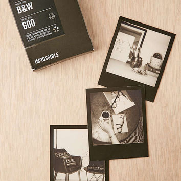 Impossible Black And White Black Square Frame Polaroid 600 Instant Film - Urban Outfitters