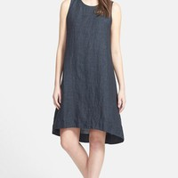 Women's Eileen Fisher Jewel Neck Organic Linen A-Line Shift Dress (Online Only)