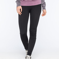 Just One Fleece Lined Womens Leggings Black  In Sizes