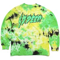 Slime And Fury Longsleeve T-Shirt Neon Yellow Tie-Dye