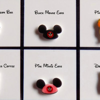 Disney Parks or Food Floating Locket Origami Inspired Charms