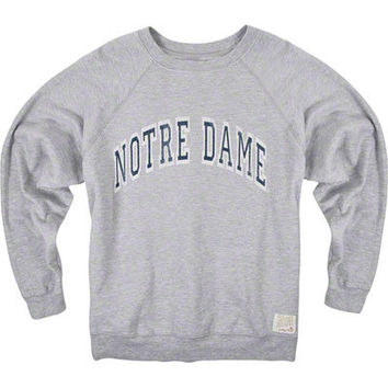 Notre Dame Fighting Irish Arch Grey Original Retro Brand Super Soft Crewneck Sweatshirt