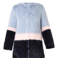 Mabel faux-fur coat