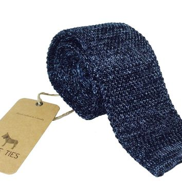 Blue Ash Knitted Tie