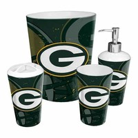 Green Bay Packers NFL 4 Piece Bathroom Decorative Set (Scatter Series)