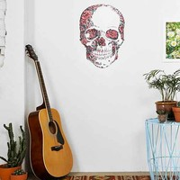 Floral Skull Wall Decal- Multi One