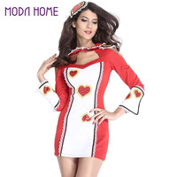 sexy-women-deguisement-adultes-cheerleader-cosplay-costume-game-uniform-sweetheart-cut-out-lace-fancy-party-dress-outfit-red BBL