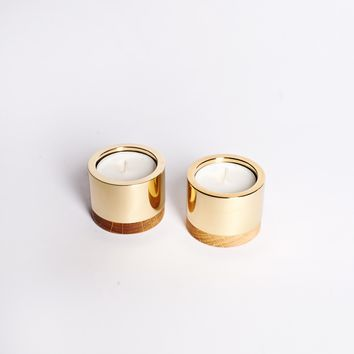 Monocle Brass Candleholder Set - All - Gifting