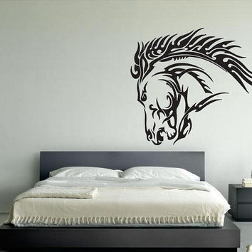 Wall Vinyl Sticker Decals Room Decor Mural Awesome Horse Mustang 139
