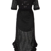 La La Lady Crochet Loop Dress | Moda Operandi