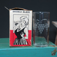 S.S. Adams Co Funny Dribble Glass Leaking Tumbler Classic Gag with Original Box