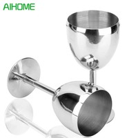 European Stainless Steel Red Wine Cup Anti-broken Wine Glasses Stemware Creative Winecup Durable Drinkware Bar Tools