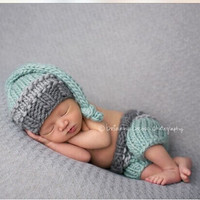 Newborn Baby Girls Boys Crochet Knit Costume Photo Photography Prop = 4457472708
